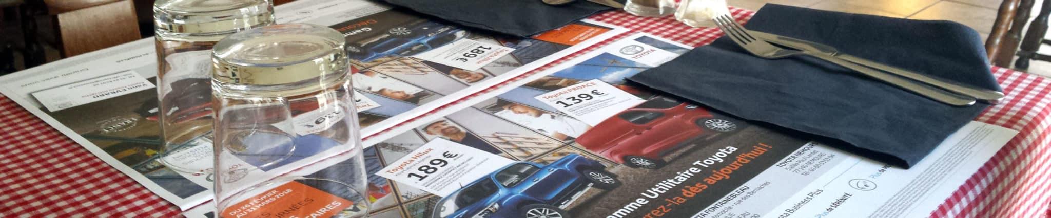 Réouverture des restaurants et set de table publicitaire à Rennes