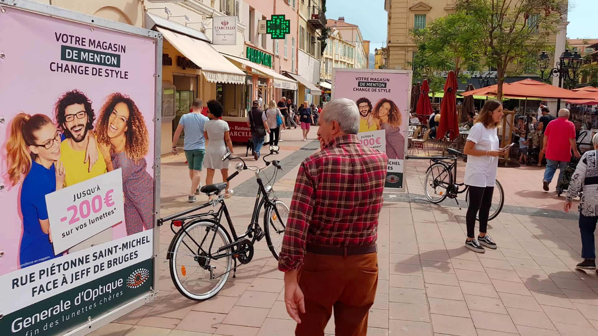 vélo publicitaire Lyon