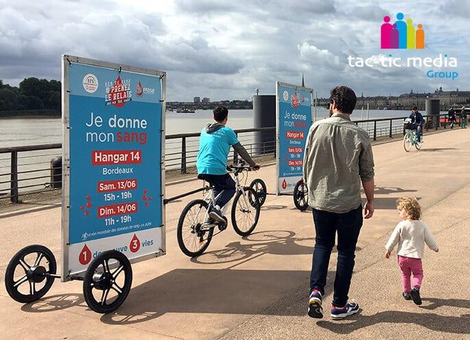 Nouvelle campagne d'affichage mobile et de Street marketing pour l'EFS