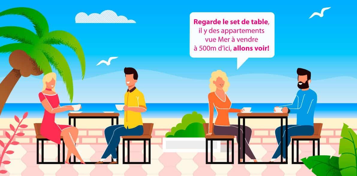 Optez pour la publicité sur set de table en station balnéaire