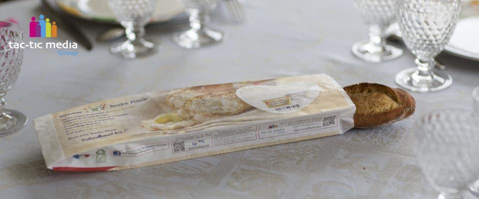 Sac à pain publicitaire Fruit d'Or avec échantillonnage