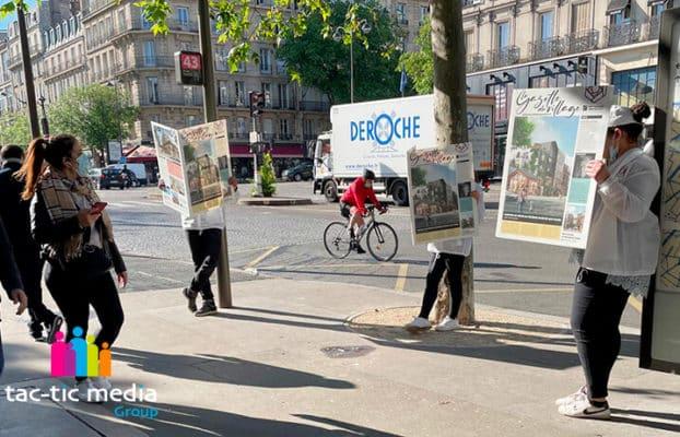 Campagne de street marketing pour un lancement de programme immobilier à Saint-Ouen