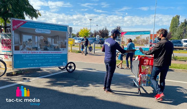Nouvelle campagne d'affichage mobile et Street marketing dans l'Essonne pour Livinx