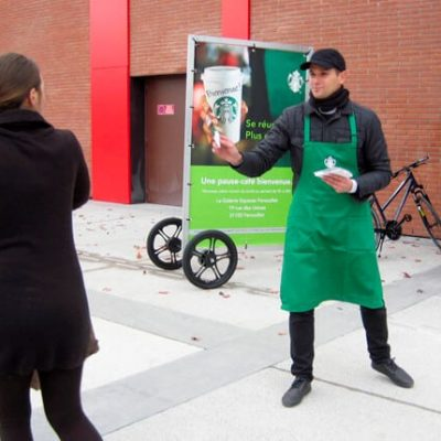 Street marketing Strabucks Toulouse