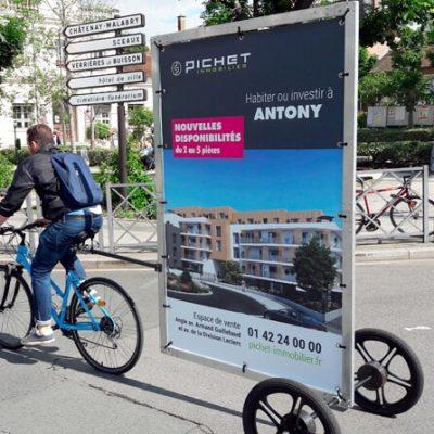 Vélo publicitaire XL - Promoteur immobilier